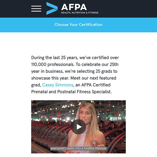 AFPA Graduate Spotlight